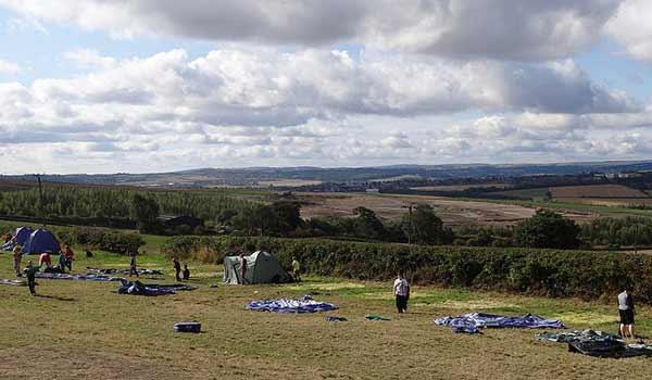 camping vue sur la plaine